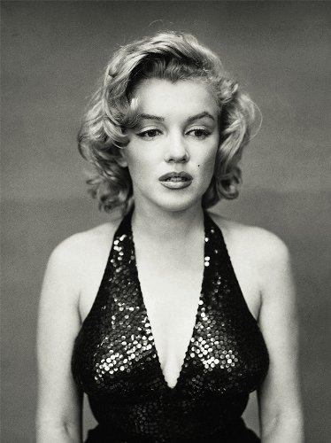Marilyn Monroe Black White Vintage Black Dress Reproduction A4