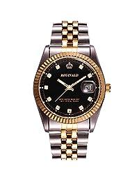 CURREN Fashion Black Stainless Steel Luxury Sport Analog Quartz Clock Mens Wrist Watch
