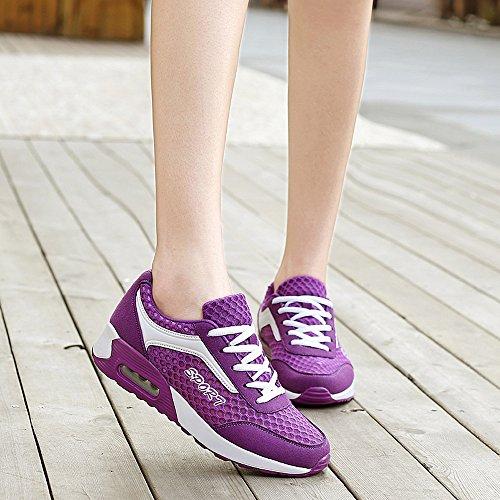 Yg608zise40 Enllerviid Kvinnor Mesh Luft Max Sport Löparskor Mode Walking Gymnastik Lila 7,5 B (m) Oss