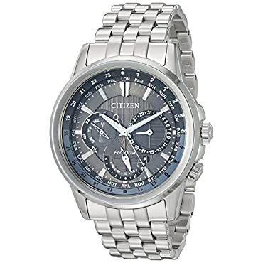 Citizen Men's 'Eco-Drive' Quartz Stainless Steel Dress Watch, Color:Silver-Toned (Model: BU2021-51H)