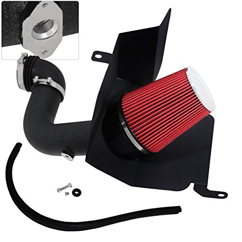 AJP Distributors For Dodge Ram 2500 3500 5.9L L6 High Flow Induction Air Intake System + Heat Shield Black Piping Kit