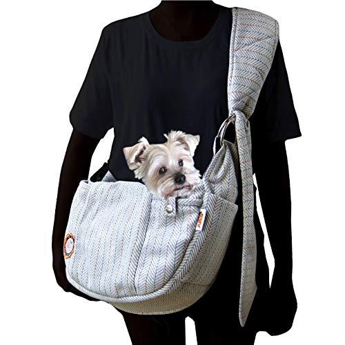 Alfie Pet – Bristol Pet Sling Carrier – Color: Light Grey