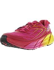 Hoka One One Womens Clifton 3 Road Running Shoe,Virtual Pink/Neon Fuchsia,US 5