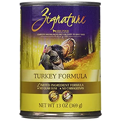 Zignature Turkey Formula Canned Dog Food, 13 Oz (12 Cans In A Case)