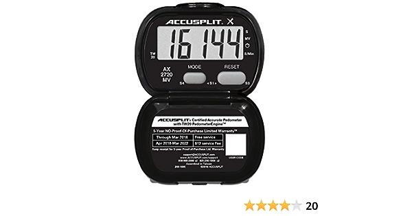 Accusplit Eagle Step Pedometer AE120XL 100,000-step count Magnum display
