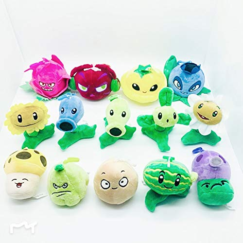 RAFGL 14Pcs/Lot 10Cm Plants Vs Zombies Plush Pendant Toy PVZ Plants Sun Wer Nut Peashooter Plush Stuffed Toys Doll for Kids Gifts Cool Must Haves Boy Gifts The Favourite Superhero Cake Topper by RAFGL