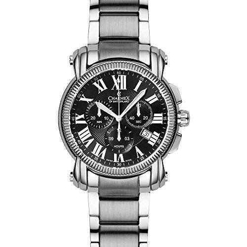 Charmex Aspen 2456 42mm Silver Steel Bracelet & Case Synthetic Sapphire Men's Watch