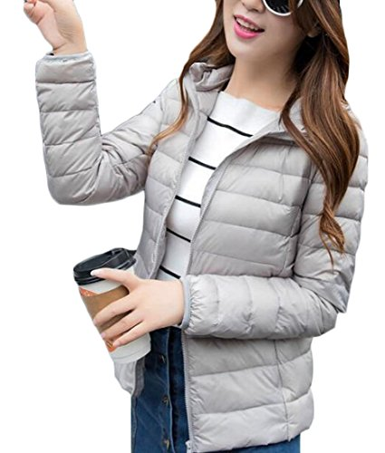 amp;S Down Women's amp;W M Winter Outwear XS Gery Hooded Puffer Packable Light d8awqnAw