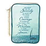 Serenity Prayer Ocean Blue 7.5 x 10.5 Polyester Thinline Bible Cover Case