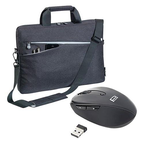 chollos oferta descuentos barato PEDEA Set Bolsa 010 66063015 Moda portátil con el ratón de 15 6 Pulgadas 39 6 cm Negro