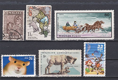 (Pooh Bear Tiger Horses and Other Animals Postage Stamps)