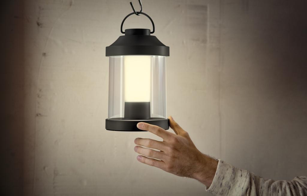 Philips Abelia Lampada da Tavolo da Esterno senza Fili, LED Integrato, Bianco 1736031P0