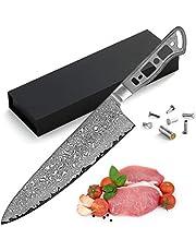 KATSURA Woodworking Project Kit – Gyuto Chef Knife Blank – 8.25 Inch – Ultra Wide Blade 55mm – Japanese Premium AUS 10, 67 Layers Damascus Steel – NO LOGO