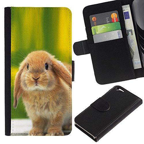 EuroCase - Apple Iphone 6 4.7 - Cute Bunny Rabbit - Cuir PU Coverture Shell Armure Coque Coq Cas Etui Housse Case Cover