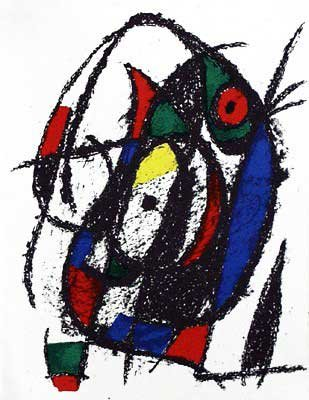 Joan Miro - Original Lithograph III From Miro Lithographs II, Maeght Publisher by Joan