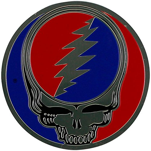 Metal Sticker (GDP Inc., Grateful Dead, The Classic Steal Your Face On Gold Metal Sticker Decal)