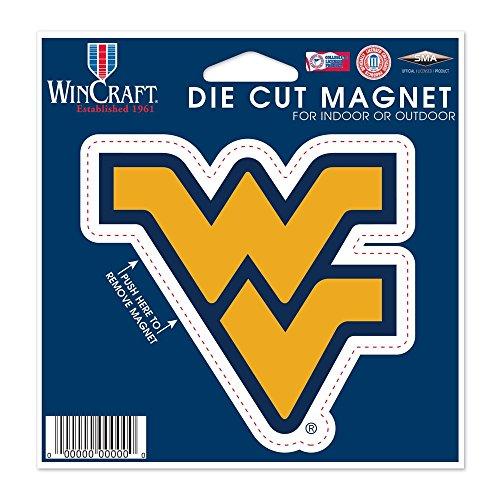 WinCraft NCAA West Virginia University Die Cut Magnet, 4.5