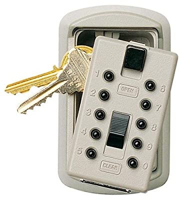 Kiddie Supra Wall-Mount Slimline 2-Key KeySafe, Pushbutton, Clay Clamshell (001371)