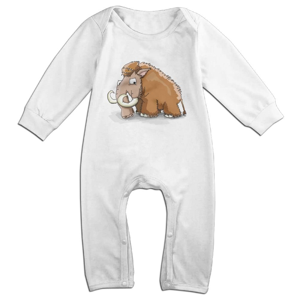 GooReady Cute Mammoth Baby Infant Romper Long Sleeve Bodysuit