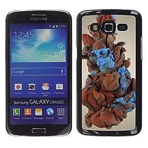 // PHONE CASE GIFT // Duro Estuche protector PC Cáscara Plástico Carcasa Funda Hard Protective Case for Samsung Galaxy Grand 2 / Humo del color /