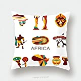 Custom Satin Pillowcase Protector Africa Elements And Icons.Eps 10 309704120 Pillow Case Covers Decorative
