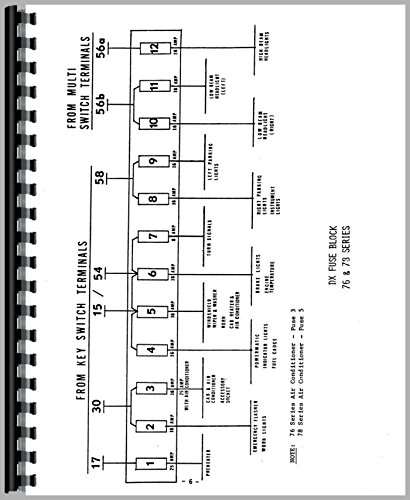 Deutz Allis D5506 Tractor Wiring Diagram Service Manual