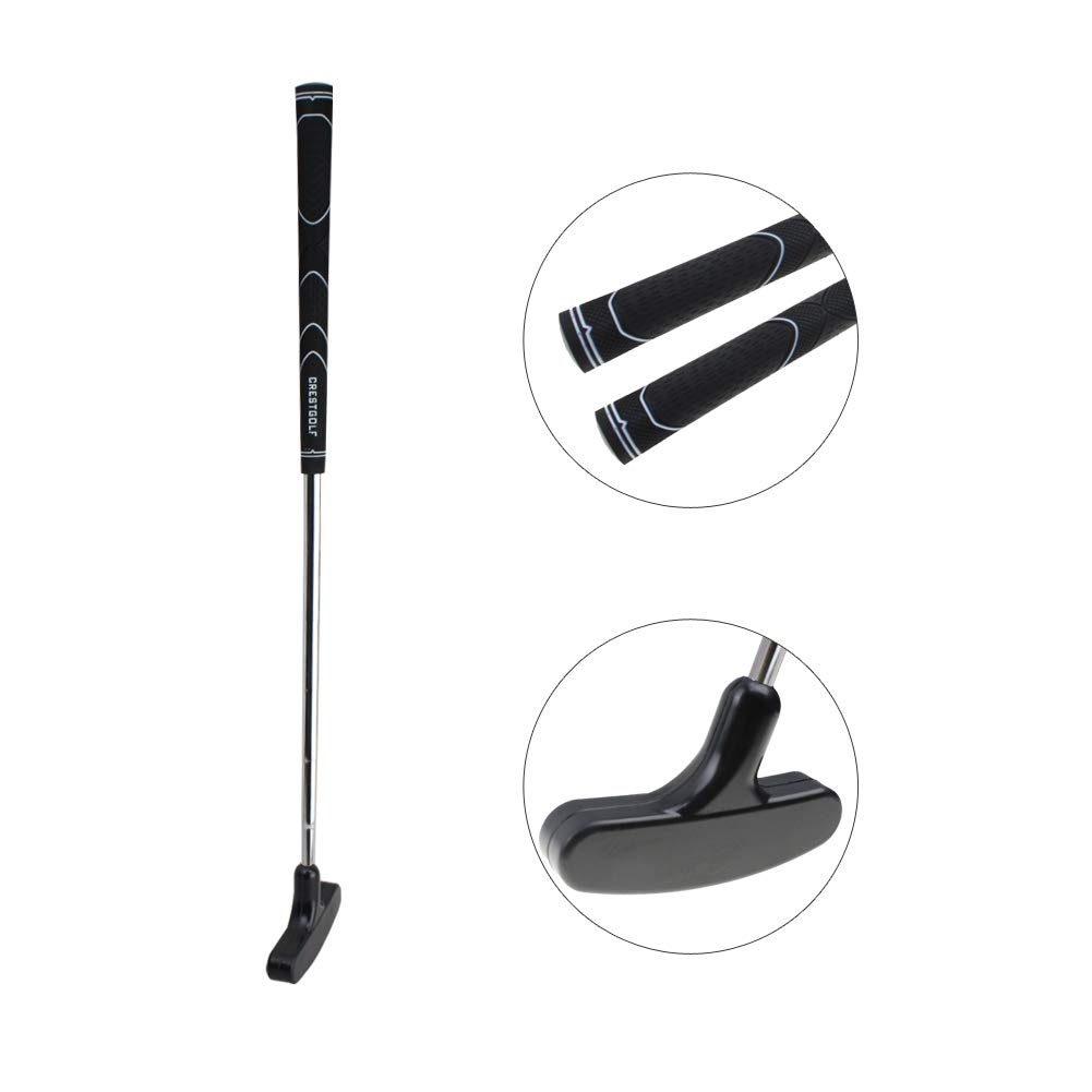 Crestgolf 29 inches Double-Way Rubber Golf Putter,Regular,Right&Left Handed (Black) by Crestgolf