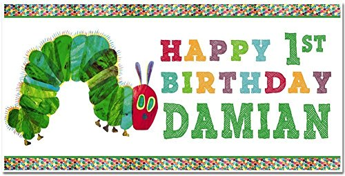 The Very Hungry Caterpillar Birthday Banner Personalized Party