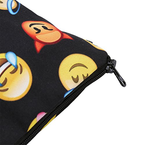 Lalang 3D Drucken emoji Kosmetiktasche für Handtasche Damen Schminktasche Make- up Tool Bag Kulturbeutel Verfassungswerkzeug Aufbewahrungstasche