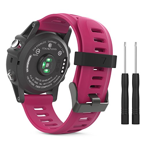 MoKo Garmin Fenix 3 Soft Silicone Adjustable Replacement Sport Strap Band parent.