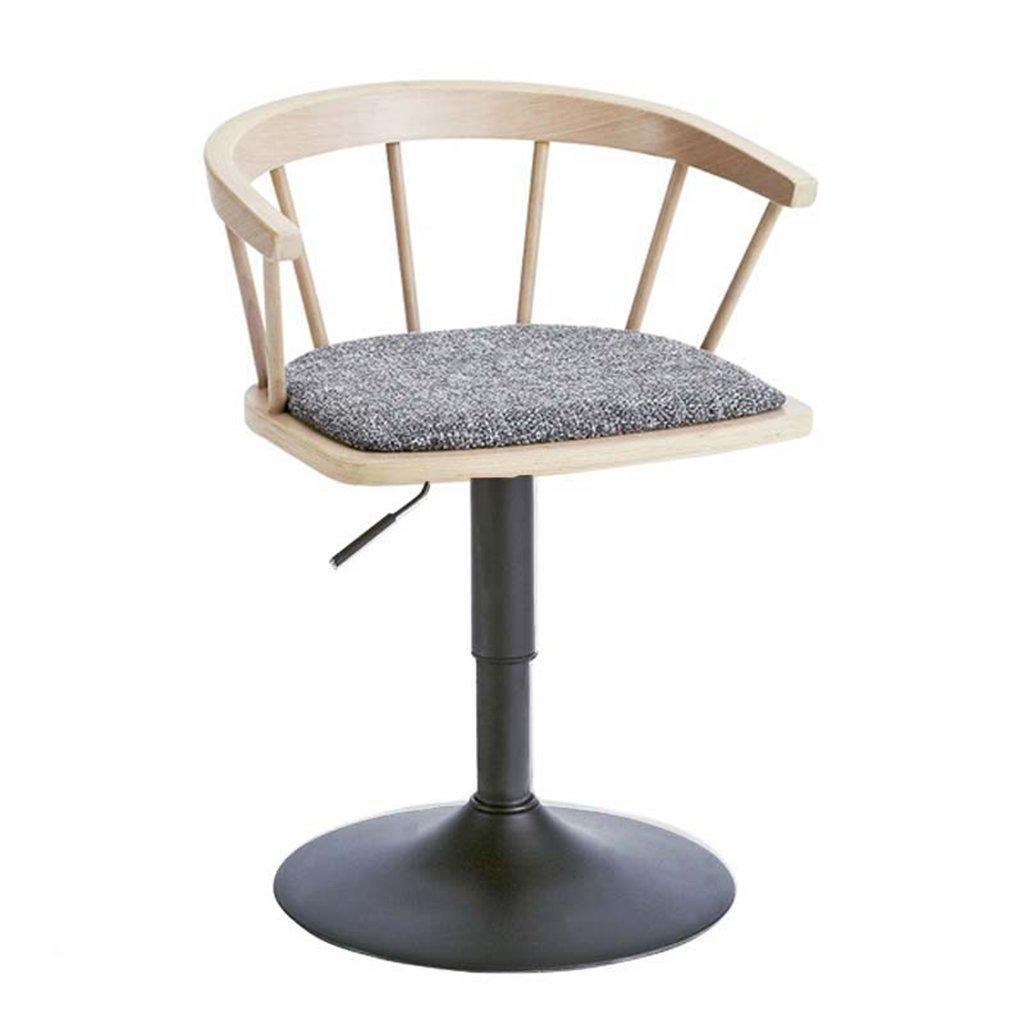 MU Moderne Einfachheits-Barhocker, Massivholz-Barhocker-Mode-drehender Barhocker-einfacher Aufzug-Haushalt, der den Stuhl langlebig speist,# 2