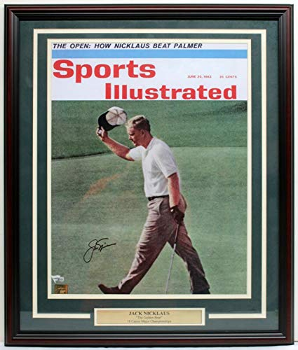 JACK NICKLAUS SIGNED AUTO 16x20 PHOTO FRAMED SPORTS ILLUSTRATED FANATICS A119586