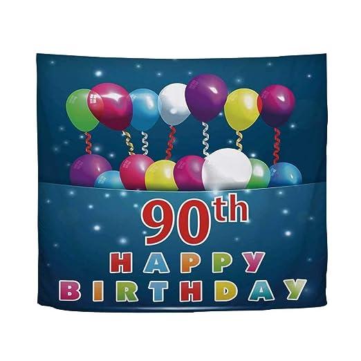 YOLIYANA Decoración para 90 cumpleaños, diseño de número ...