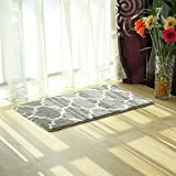 Kitchen Rugs Geometric Uphome Geometric Series Moroccan Microfiber Bathroom Shower Accent Rug - Non-slip Soft Absorbent Decorative Bathroom Floor Mat Carpet (35
