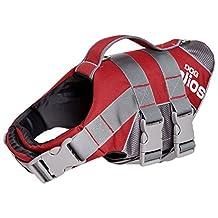 Dog Helios Splash-Explore Waterproof and 3M Reflective and Adjustable Buoyant Floating Pet Dog Harness Life Jacket, Red, Large