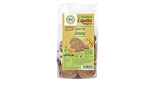 Sol Natural Mini Galletas de Espelta Integral, con Copos de ...