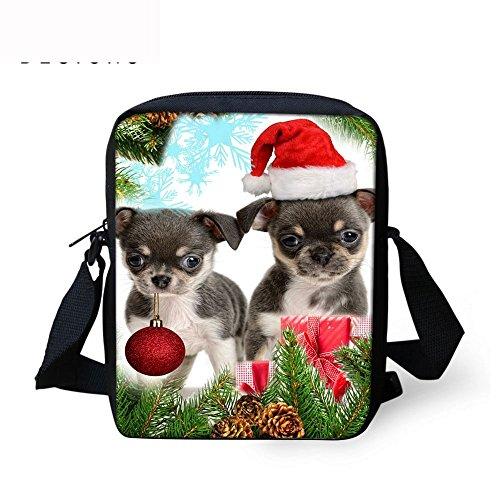TAOTINGYAN Schulrucksack, Schultasche,Rucksäcke Kinder_Kinder Tasche Messenger Paket Tasche Schöne Kinder Diagonal Weihnachten Kinder, Sechs Drei