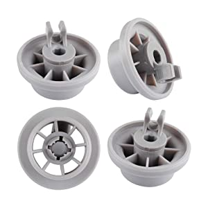 Dishwasher Rack Basket Wheel For 165314 BOSCH, Neff & Siemens(4 Pack)