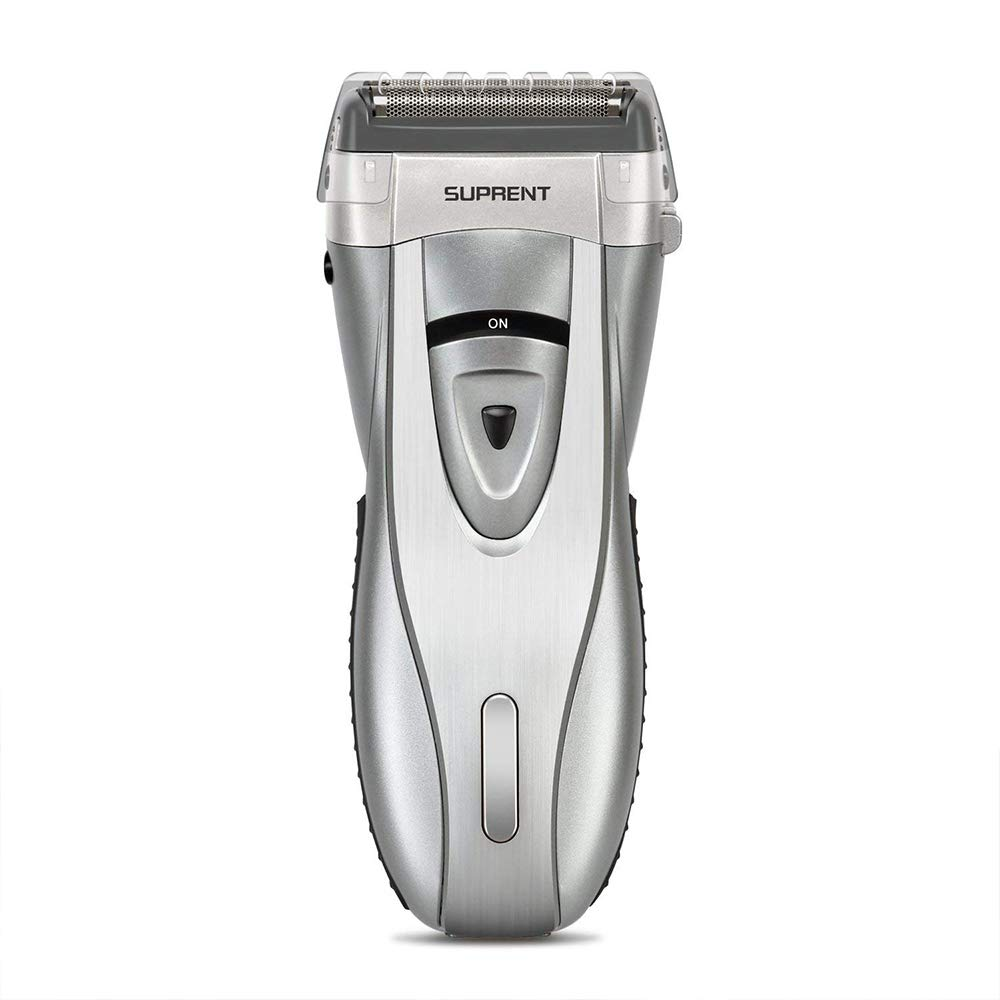 SUPRENT Electric Foil Shaver for Men, Wet and Dry Electric Razor with Pop Up Precision Trimmer, Rechargeable and Cordless Shaver