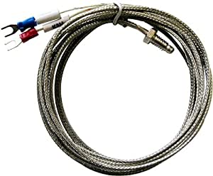 1M (3.3ft) K type Thermocouple for PID temperature controller