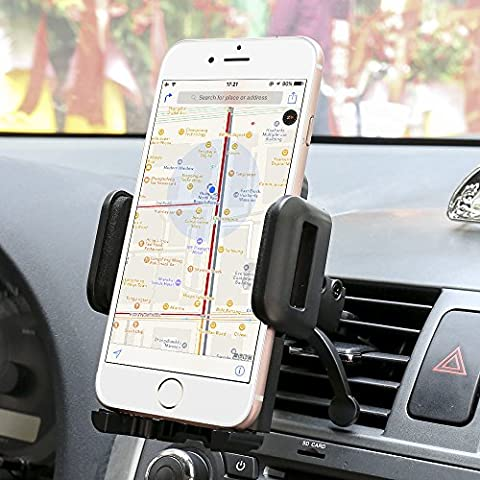 Car mount,Sgrice Air Vent Car Phone Mount Holder Cradle for iphone x iPhone 8/8 Plus 7/7 Plus/ 6s Plus/6s, Samsung Galaxy S8/S7 Edge and Other Cell Phone - Cars Exterior Accessories