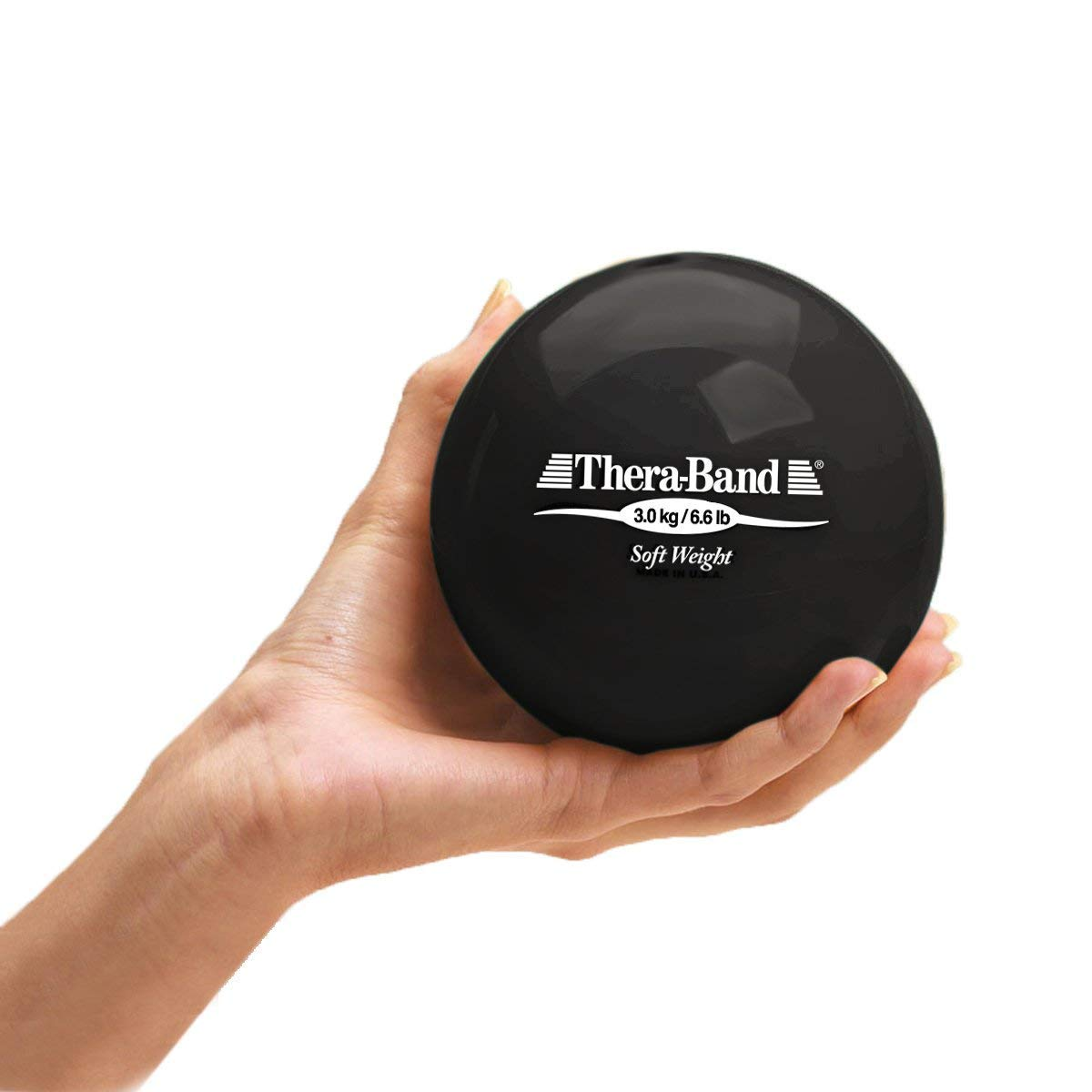 Biofreeze Soft Weight, Hand Held Ball Shaped Isotonic Weight for Strength Training Rehab Exercises, Pilates, Yoga, Toning Workouts, Home Exercise Equipment Balls, 4.5 Diameter, Black, 6.6 Pounds