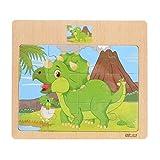 "Shybuy Toys,Wooden Cute Train Puzzle Educational Developmental Baby Kids Training Toy (14.7cmx14.7cm/5.8""x5.8"", Random)"