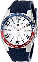Tommy Hilfiger Men's 1790885  Sport Stainless Steel Bezel Blue Silicon Strap Watch