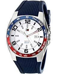 Tommy Hilfiger Mens 1790885 Stainless Steel Watch With Blue Silicone Band