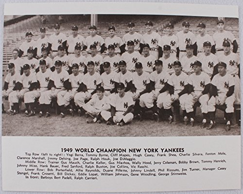 (NY YANKEES 1949 WORLD SERIES CHAMPIONSHIP TEAM 11x14 MATTE FINISHED SEPIA PHOTO)