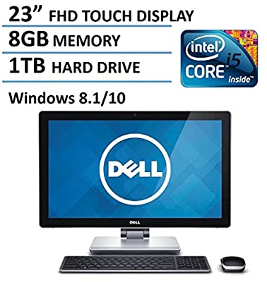 "2016 New Edition Dell 23"" Touchscreen All-in-One Desktop Computer (Intel i5-4210M up to 3.2GHz, 8GB RAM, 1TB HDD, 23"" FHD 1080P Touch Display, HDMI, WiFi, Webcam, Windows 8.1"