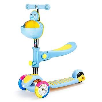Scooter Patinete para niños con Asiento, Mango Ajustable ...