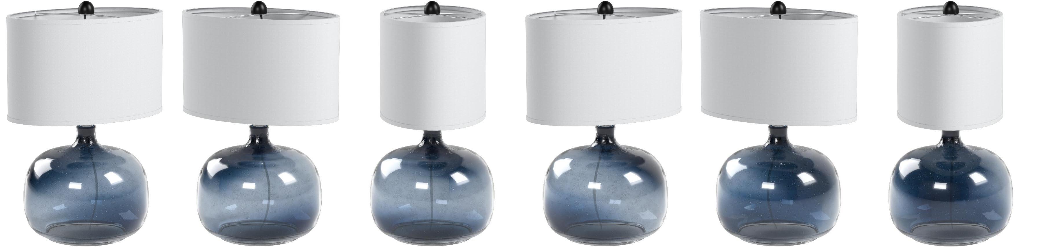 Cal Lighting Bo 2263tb Christi Navy Blue Glass Table Lamp Amazon Com