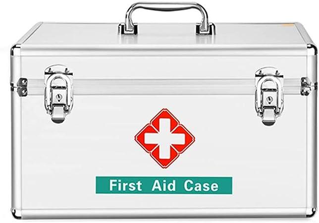 HYRL Caja de Almacenamiento de medicamentos de aleación de Aluminio Caja de Primeros Auxilios para la Familia Caja Grande para medicamentos, Robusta y Duradera Cajas para: Amazon.es: Hogar